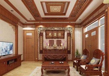 không gian sang trọng với nội thất gỗ