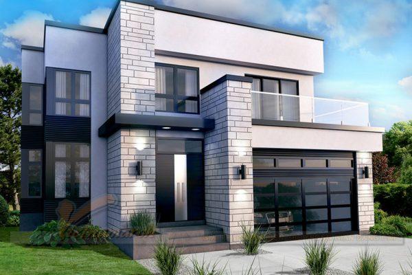 Biệt thự mii với kiến trúc mái bằng độc đáo