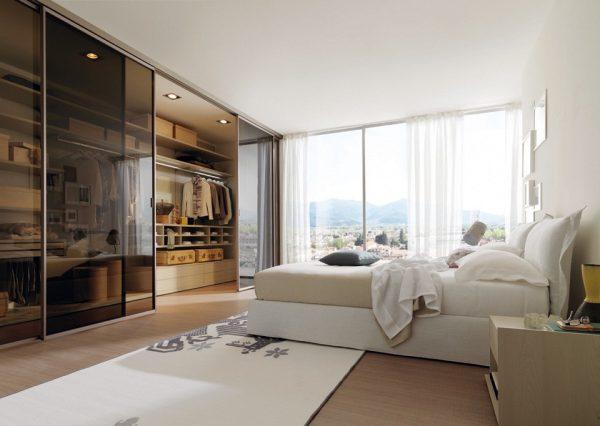 phòng ngủ kết hợp phòng thay đồ thiết kế cửa trượt tiện lợi