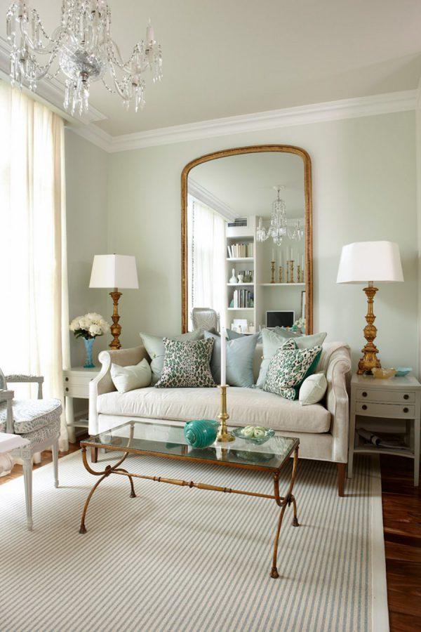 Cách bố trí gương cho phòng khách nhỏ khách