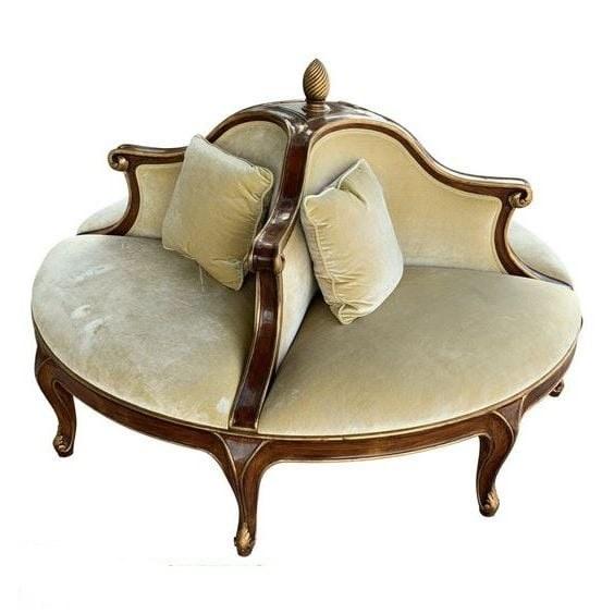 Sofa đơn tròn thiết kế theo phong cách tân cổ điển