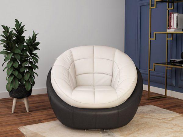 Ghế sofa tròn trong phòng đọc sách