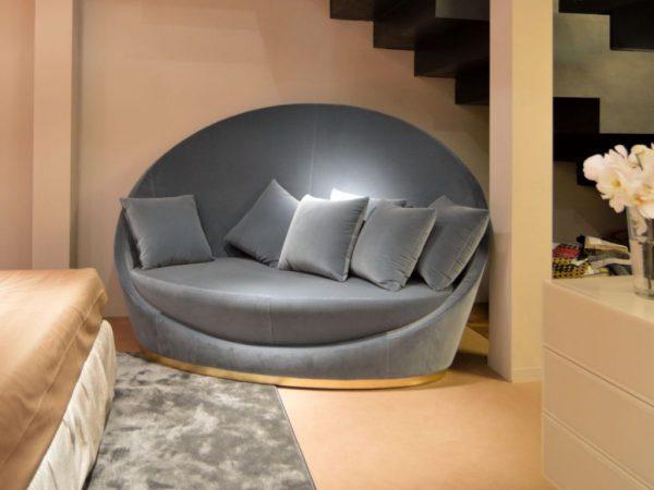 mẫu sofa hình bán nguyệt