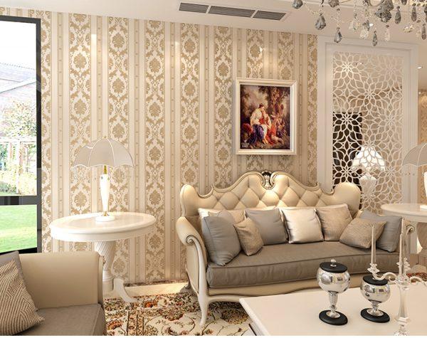 Giấy dán tường phù hợp với thiết kế nội thất