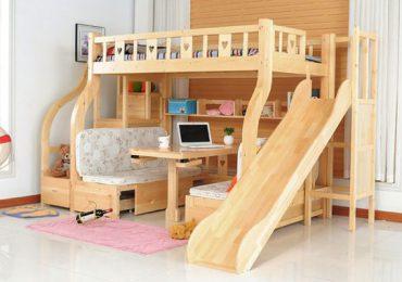 Giường 2 tầng thông minh ưu tiên sử dụng chất liệu gỗ