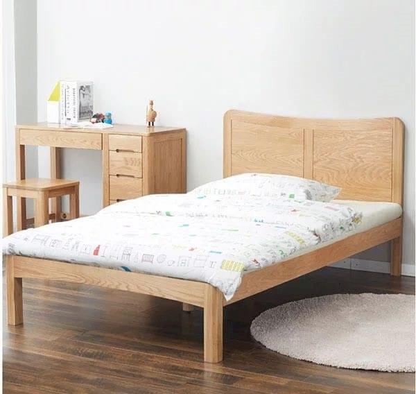 giường gỗ đơn giản phong cách hiện đại