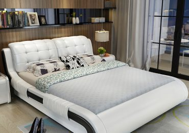 giường bọc da dành cho gia chủ trẻ tuổi