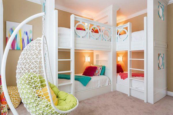 Bố trí giường tầng trong phòng ngủ