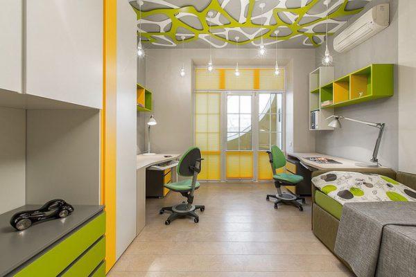 Phòng ngủ kết hợp bàn học
