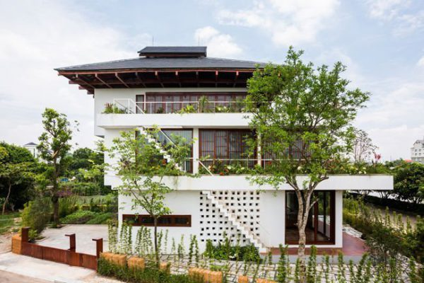 Biệt thự kiểu Nhật với kiến trúc hiện đại và độc đáo