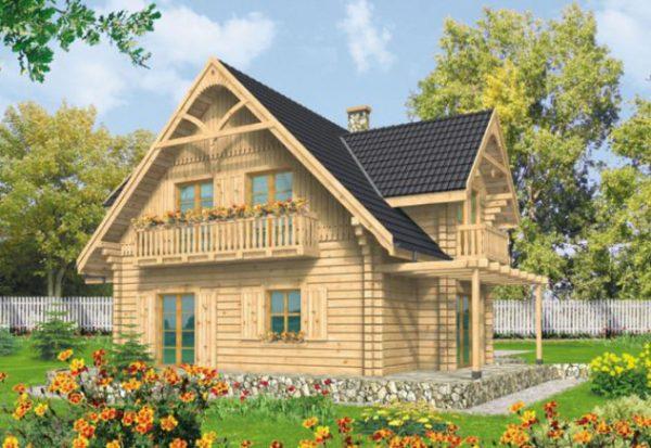 mẫu nhà cấp 4 đẹp ốp tường gỗ