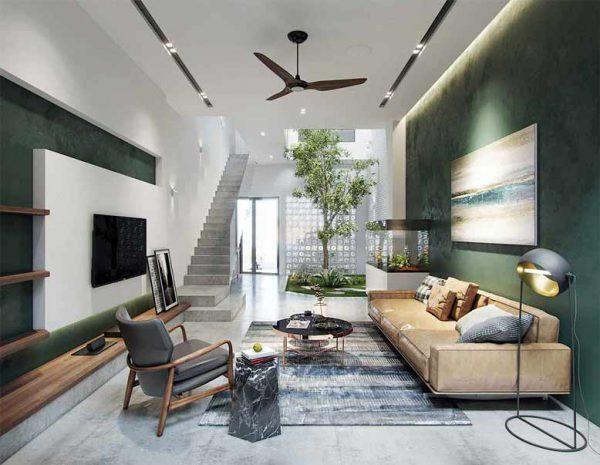Nội thất nhà ống đẹp hiện đại cho phòng khách