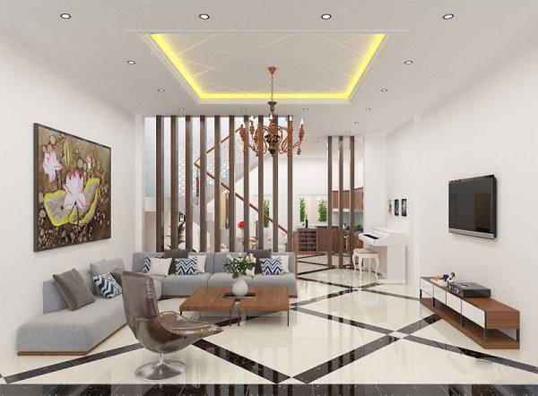 xu hướng thiết kế nội thất phòng khách nhà phố