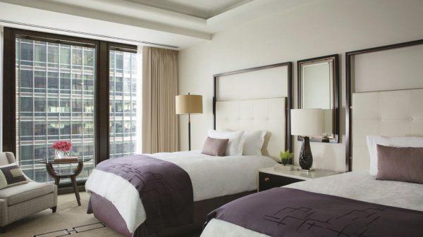 Thiết kế phòng ngủ khách sạn 2 giường đôi