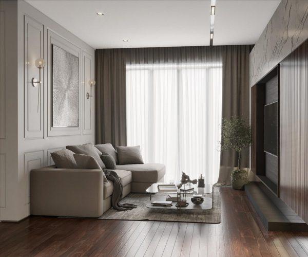 trang trí phòng khách tối giản nhưng vẫn sang trọng