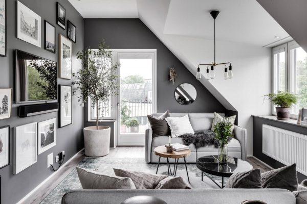 phòng khách nhỏ gọn hiện đại