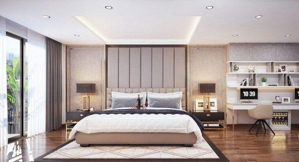 giường ngủ lớn trong phòng