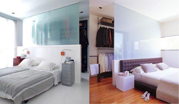 phòng thay đồ ẩn trong phòng ngủ