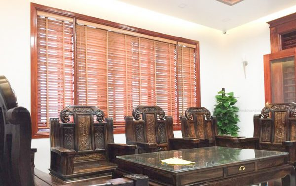rèm gỗ cho phòng khách