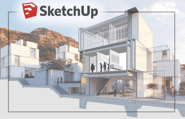 Phần mềm thiết kế SketchUp được sử dụng rộng rãi
