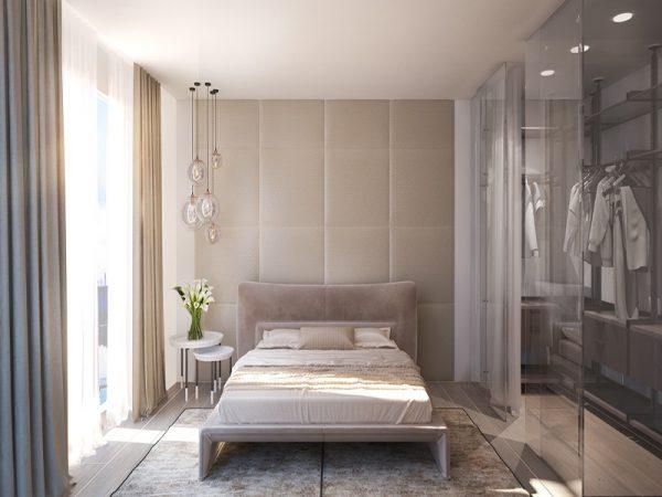 thiết kế phòng ngủ hiện đại, quyến rũ