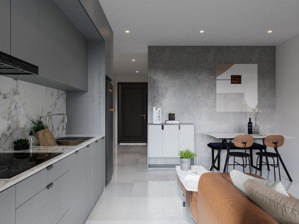tích hợp thêm khu bếp nấu ăn trong căn nhà