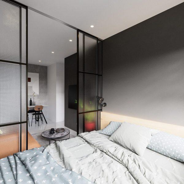 thiết kế phòng ngủ thể hiện sự sáng tạo, mang tính ứng dụng cao