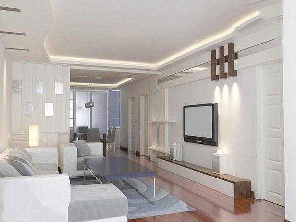 TV treo tường cho phòng khách nhỏ