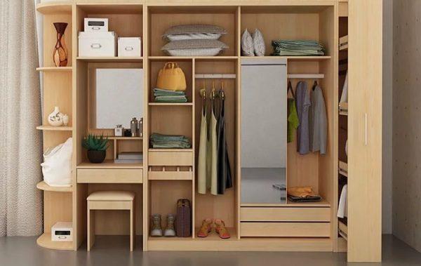 Tủ quần áo kết hợp bàn trang điểm nhiều ngăn