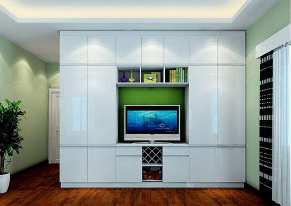 Tủ kết hợp kệ tivi trong phòng ngủ
