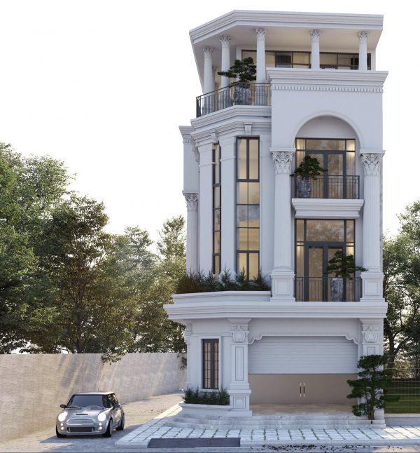 Biệt thự trên cao với kiến trúc tân cổ điển độc đáo