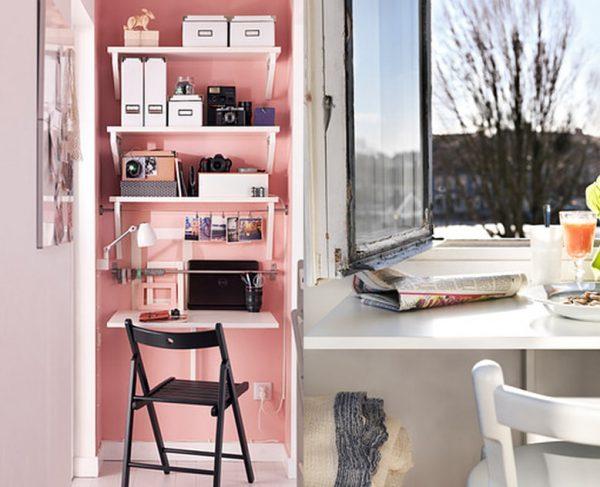 Mẫu bàn thiết kế nhỏ gọn, phù hợp với văn phòng của các bạn nữ