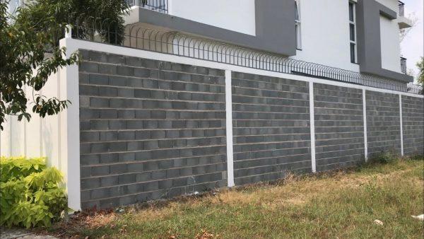 Các mẫu hàng rào gạch đẹp, kiên cố, chắc chắn