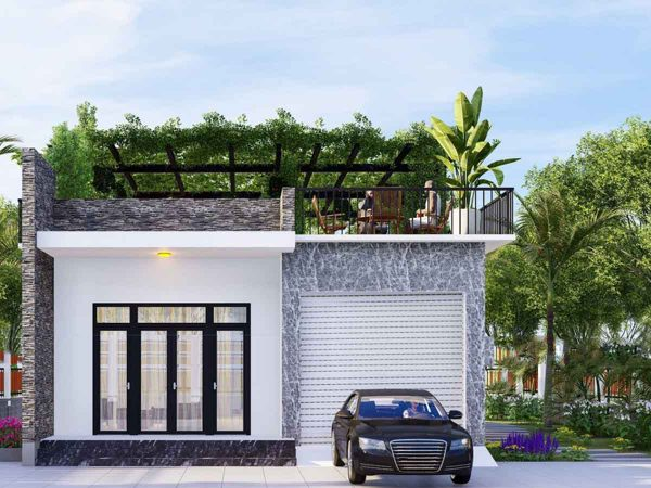 thiết kế nhà với không gian gần gũi thiên nhiên