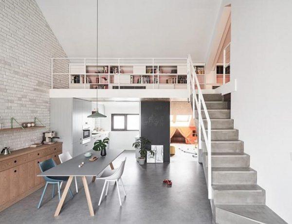 Nhà gác lửng giúp nới rộng không gian sống