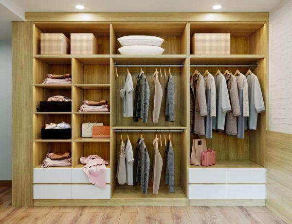 tủ quần áo gỗ công nghiệp