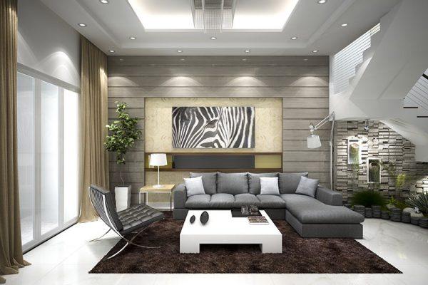 Lựa chọn diện tích phòng khách phù hợp sẽ mang lại mỹ quan cũng như phong thủy ngôi nhà