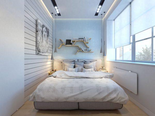 nội thất phòng ngủ diện tích nhỏ với hệ thống cửa sổ chiếu sáng thông thoáng