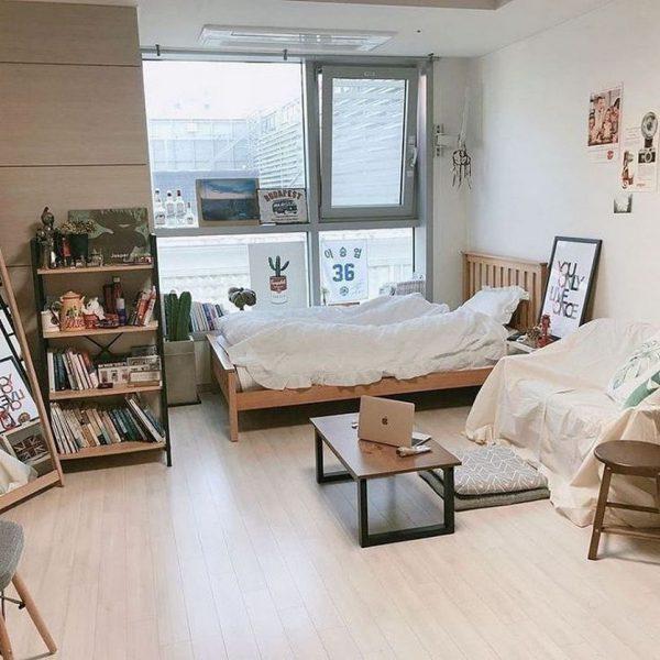 Phòng ngủ phong cách hàn quốc siêu đẹp, siêu tiện nghi