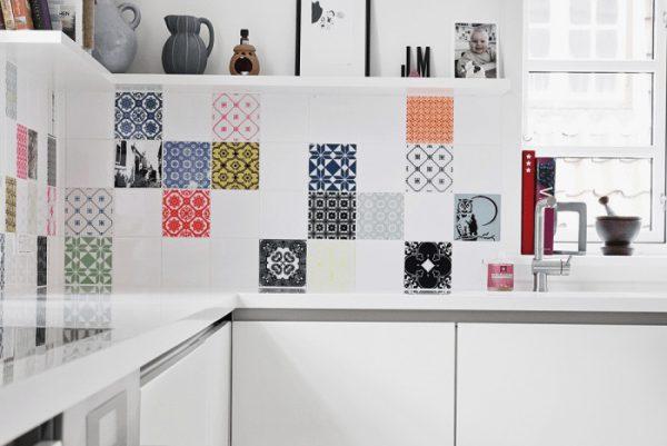 gạch hoa văn trang trí thiết kế nhà bếp đẹp