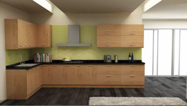 Tủ bếp với chất liệu Melamine