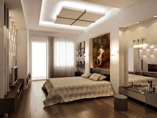 kết hợp hệ thống đèn tạo sự lung linh cho căn phòng