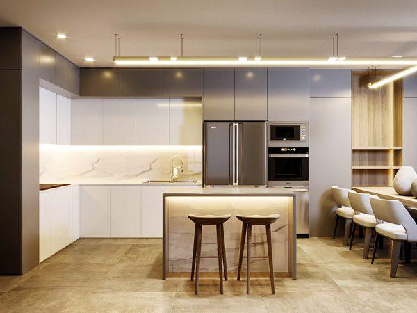 Nội thất phòng bếp cho không gian sống hiện đại