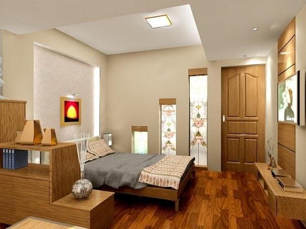 Phòng ngủ thoáng, rộng và hiện đại