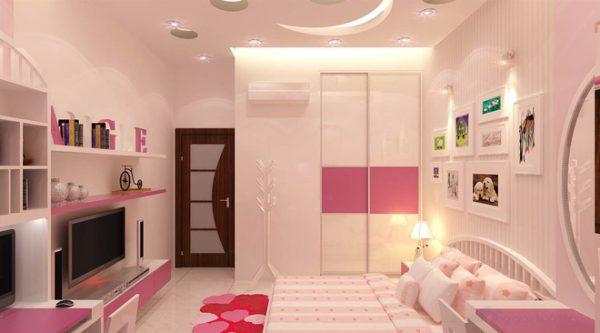 màu hồng dễ thương cho bé gái