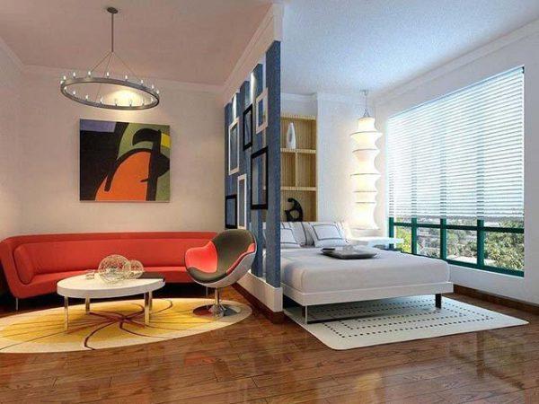 Thiết kế tiện lợi ngăn cách phòng khách và phòng ngủ