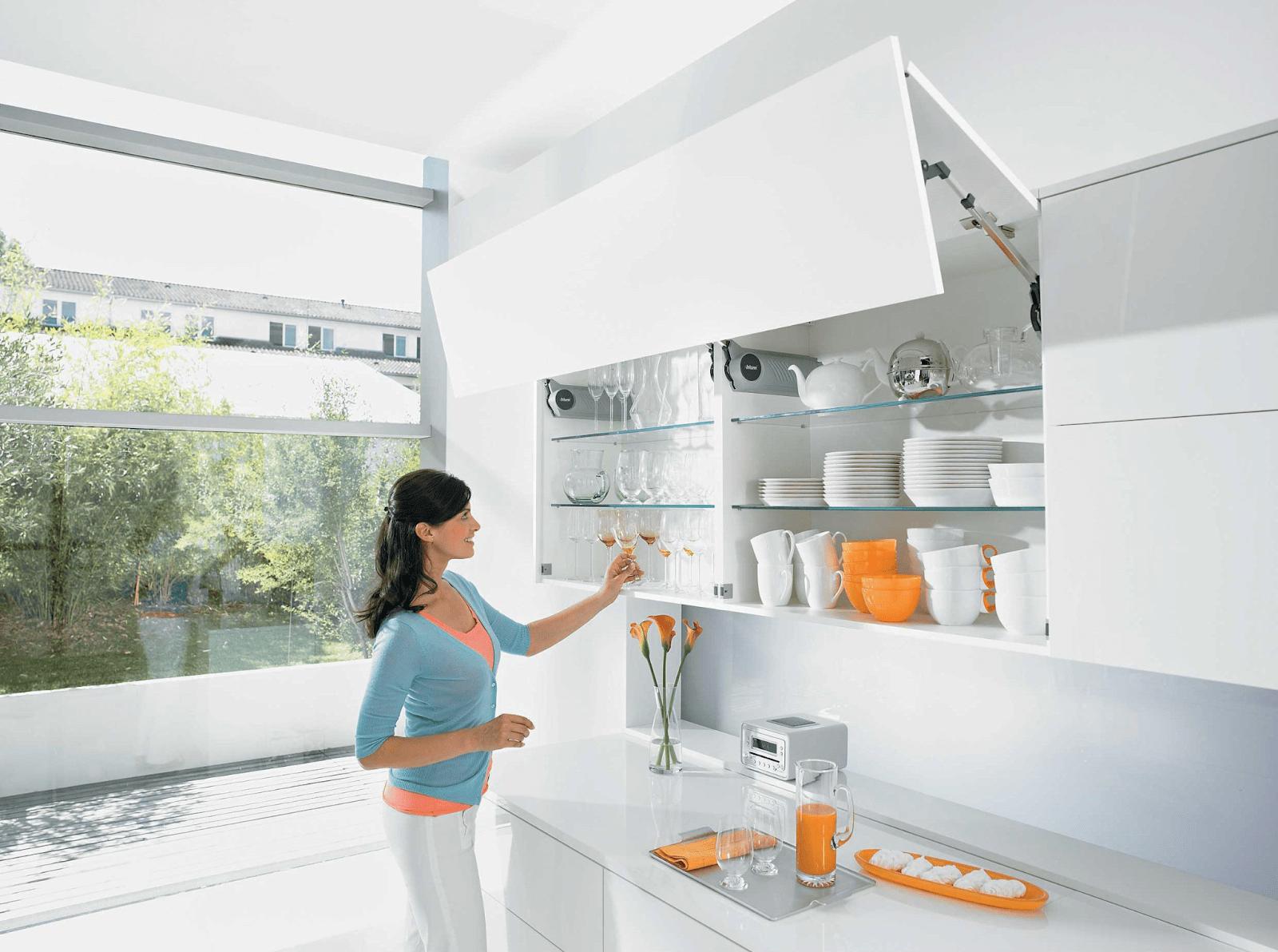 Tủ bếp không tay nắm