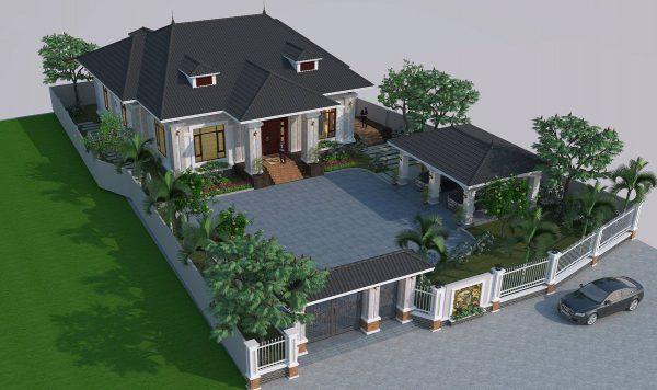 Hình ảnh tổng thể của dự án biệt thự