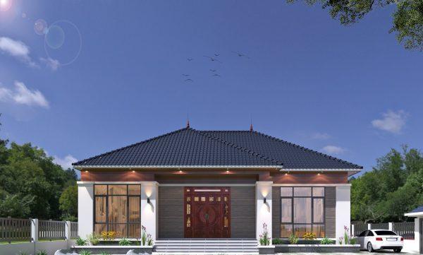 Biệt thự mái thái với kiến trúc đặc trưng của Nhật Bản