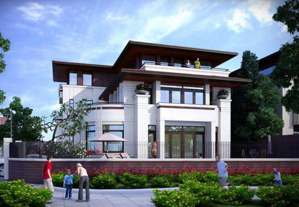 Mẫu biệt thự 3 tầng mái thái được nhiều chủ đầu tư yêu thích